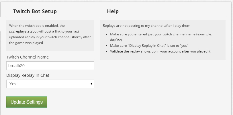 Website Updates – Twitch chat bot, notifications, parsing fixes, and